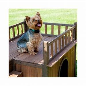 dog house with stairs staircase balcony porch wood With large dog house with balcony