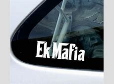 EK Mafia or custom test stickers Decals For Honda Civic EK