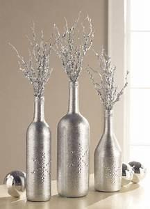 Silberne Deko Vasen : ber ideen zu bemalte vasen auf pinterest diy bemalte vasen flasche und weinglas ~ Indierocktalk.com Haus und Dekorationen