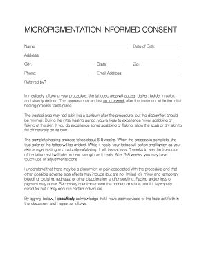 consent form for microblading microblading informed consent docx fill online printable