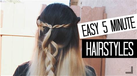 easy 5 minute hairstyles for back to school youtube