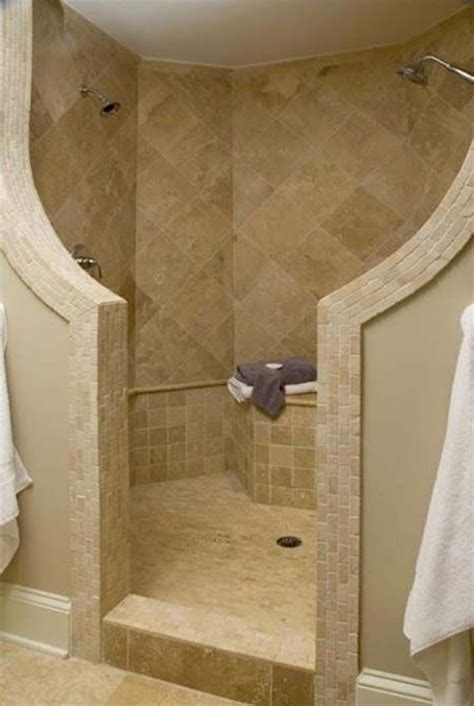 showers without doors or curtains modern walk in shower