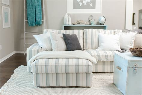 Custom Slipcovers For Sectional Sofas by Custom Nautical Sofa Slipcover Beach Style Upholstery