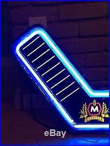 vtg Molson Beer Hockey Stick Neon Light Up Sign Game