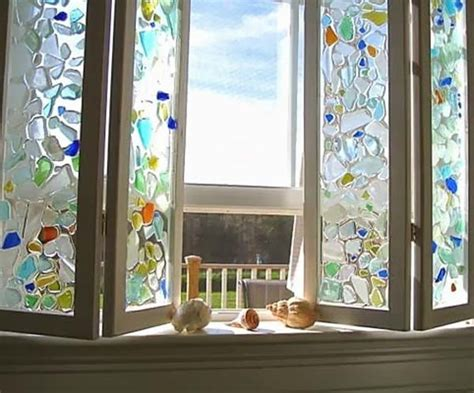20+ Cute Diy Home Decor Ideas With Colored Glass And Sea
