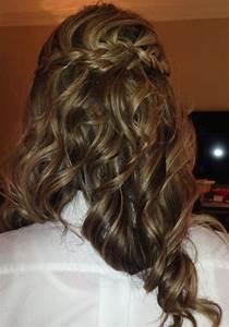 My latest wedding hairstyle - half-up/half-down braid ...