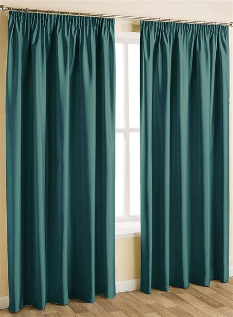 ideas  teal pencil pleat curtains  pinterest