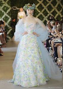 oscar de la renta bridal spring 2013 wedding dresses With multi colored wedding dresses