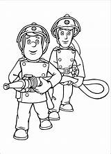 Firefighters Coloring Pages Fireman Sam Drawing sketch template