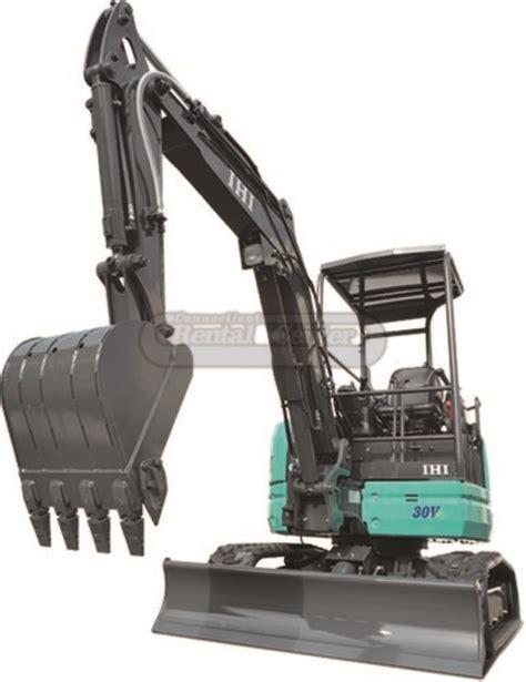 rent mini excavator  thumb  ct rental center