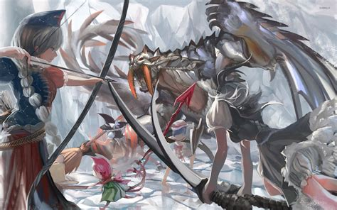 Anime Archer Wallpaper - archer and witches battling the wallpaper anime