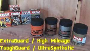Fram Oil Filter Review  Extra Guard - Tough Guard - High Mileage - Ultra Synthetic
