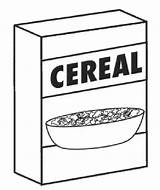 Cereal Box Clipart Coloring Pages Pngio sketch template