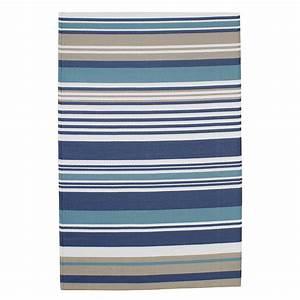tapis d39exterieur a rayures en polypropylene bleu 120 x With tapis polypropylène extérieur