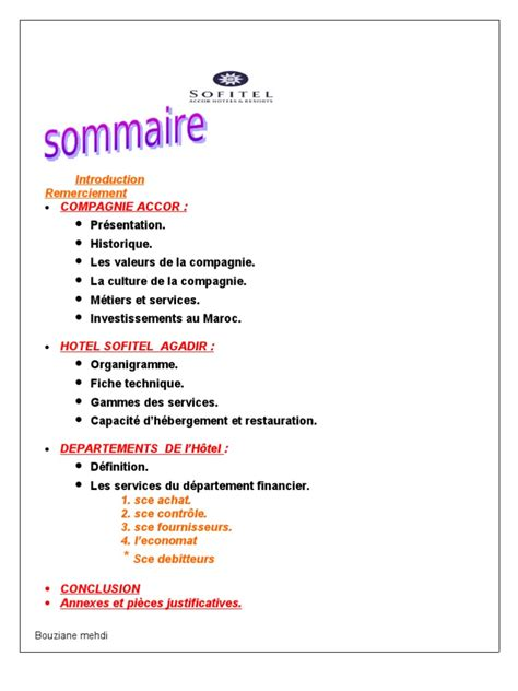 rapport de stage en cuisine exemple exemple de rapport de stage fiduciaire pdf document