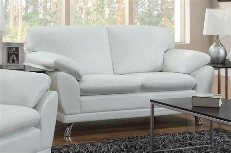 White Leather Sofa And Loveseat by Coaster Robyn 504542 White Leather Loveseat A Sofa