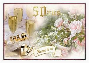 Cadeau Noce D Or : 26 felicitations ans de mariage noces d or pics concepts de mariage ~ Teatrodelosmanantiales.com Idées de Décoration