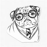 Pug Coloring Pages Pugs Printable Dog Drawing Puppy Print Harry Colouring Cute Sheets Christmas Cartoon Decal Adults Puppies Clipart Drawings sketch template