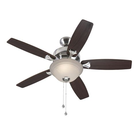 44 ceiling fan with light shop harbor breeze pentiction 44 in brushed nickel downrod