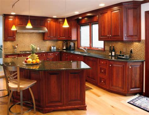 classy kitchen cabinets    cherry wood