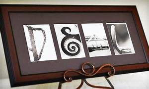 49 for custom alphabet photo art groupon for Custom letter art groupon