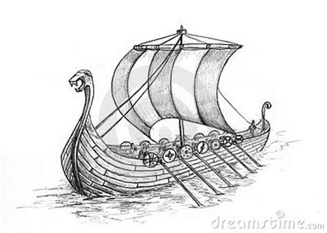 Viking Boat Drawing by Viking Stock Illustrations Vectors Clipart 2 847