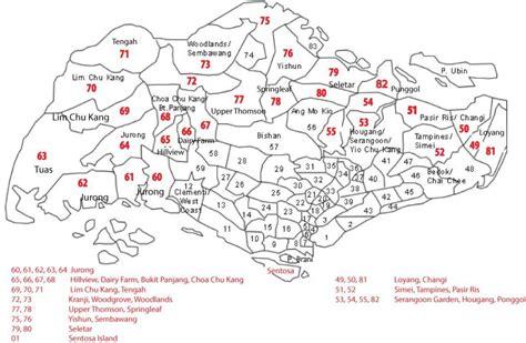 Carte Code Postal by Sg Postcode Map Singapore Postal Code Map Republic Of