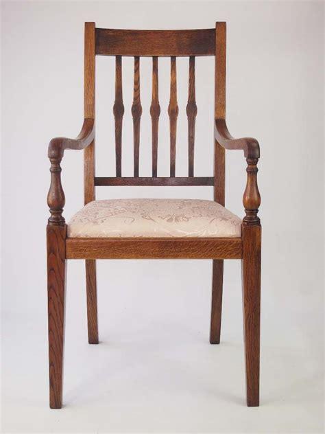 Harlequin Set 6 Vintage Oak Dining Chairs