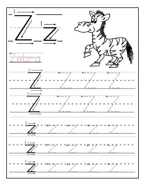 kindergarten letter tracing worksheets learning printable