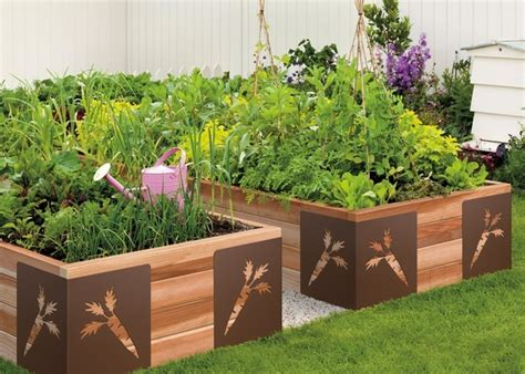 raised vegetable garden clever  creative home