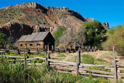 Grafton Log Barn And Fences Rockville Utah Photograph By