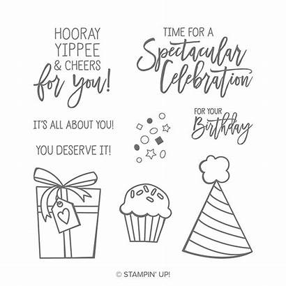 Birthday Stampin Cheer Stamp Cling Stamps Card