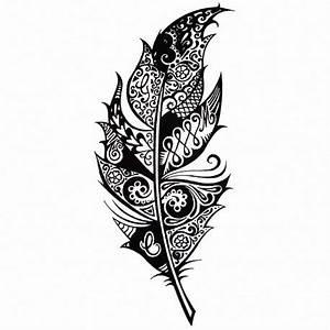 Signification Plume Noire : tatouage temporaire plume tribal ~ Carolinahurricanesstore.com Idées de Décoration