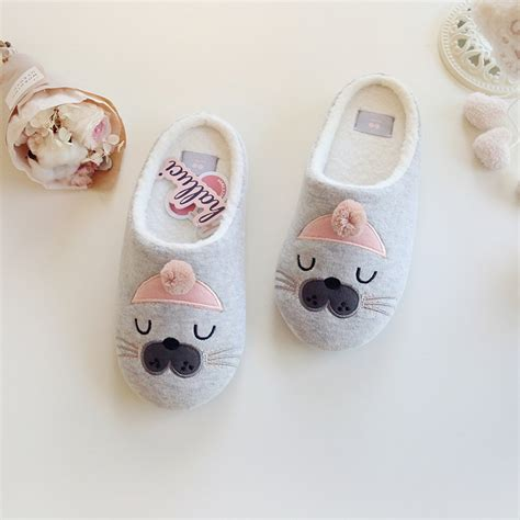 Animal Bedroom Slippers by Cute Cat Animal Pattern Cotton Home Slippers Women Sandals
