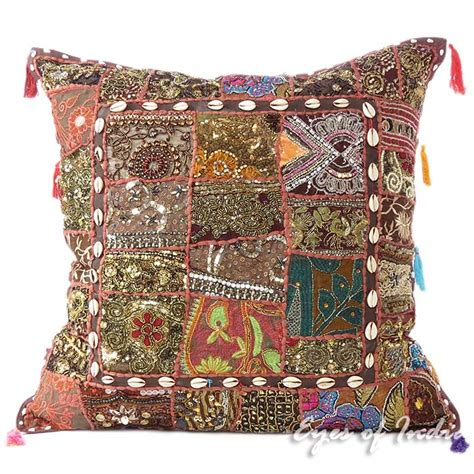 boho pillow covers 24 quot large brown decorative throw pillow cover cushion