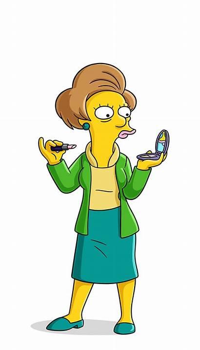 Simpsons Simpson Krabappel Characters Character Edna Clipart