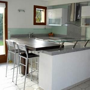 Coin Repas Cuisine : plan de cuisine coin repas gris perle poli mdy france ~ Premium-room.com Idées de Décoration