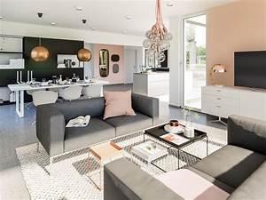 Wohnzimmer Mit Essbereich : inneneinrichtung wohnzimmer mit essbereich haus ideen fertighaus concept m 154 bien zenker ~ Watch28wear.com Haus und Dekorationen