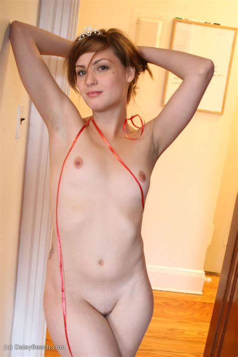 Average Girl With Tiny Tits And Hairless Mound Poses Naked