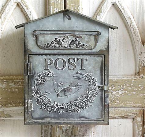 Vintage Style Zinc Mail Box Letter Box Post Box Antique