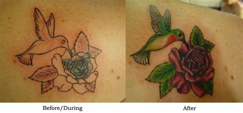 Hummingbird Cover Up Tattoo by Hummingbird Cover Up By Erinclayton On Deviantart