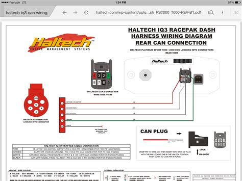 Haltech Wiring Racepak Can Connector Rxclub