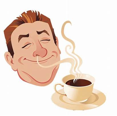 Smell Cartoon Coffee Latte Clipart Cup Tastes