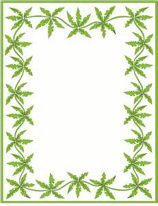 Marijuana Leaf Clip Art Borders