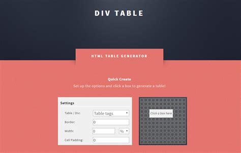 Html Div Table Generator by Htmlのテーブルを直感的に作成することができる Html Div Table Generator Techmemo
