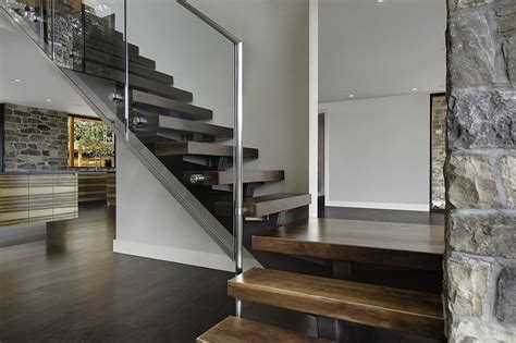 modern staircases glass  stainless steel