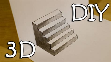 How To Draw Easy 3d Stairs Optical