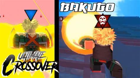 roblox ultimate crossover bakugo showcase howitzer