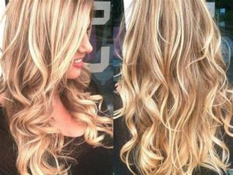 coiffure balayage blond