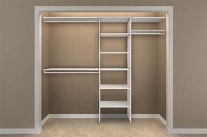 simple dressing room with closetmaid shelving units With minimalist closet shelving design ideas